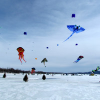 The largest Canadian winter festival of kites