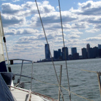 Opening of the sailing season down the Hudson river