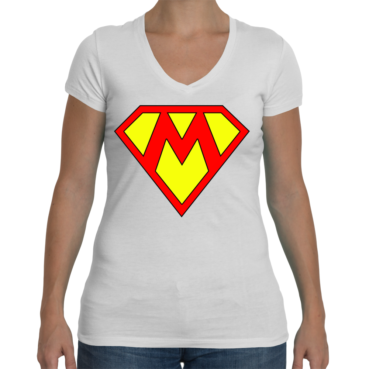 Supermom Ladies Sporty V-Neck T-Shirt