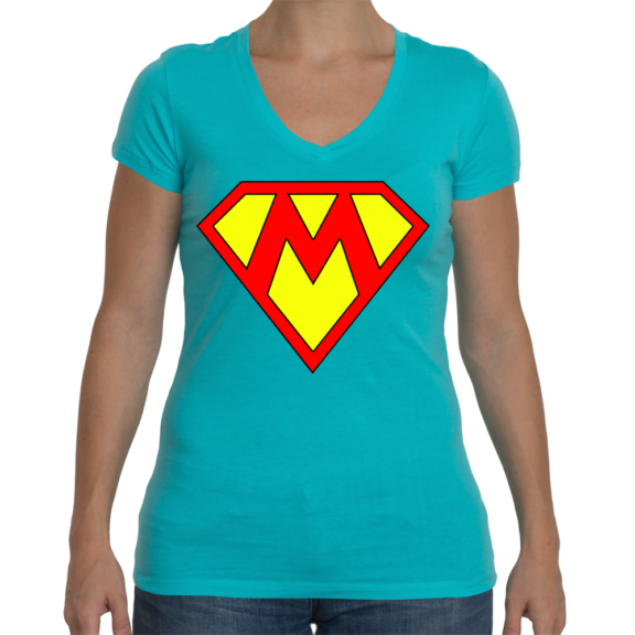 Supermom Ladies Sporty V-Neck T-Shirt