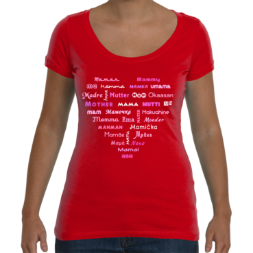 Mom's Sweet Heart Ladies Scoop T-Shirt