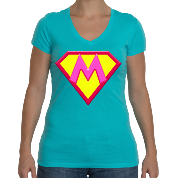 Super M Ladies Sporty V-Neck T-Shirt