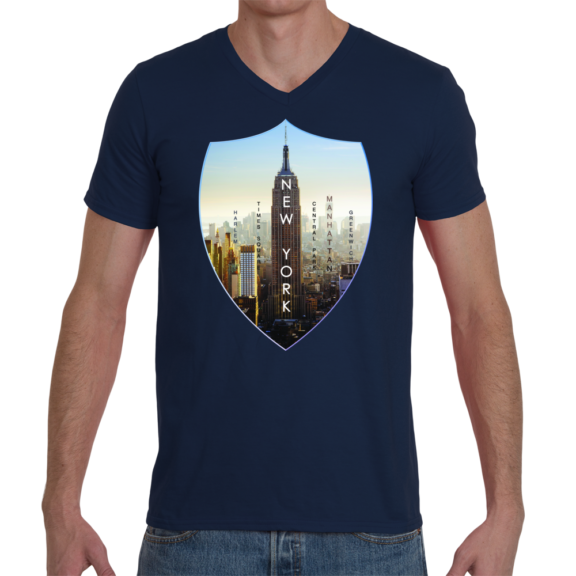 New York Empire Men V-Neck T-Shirt