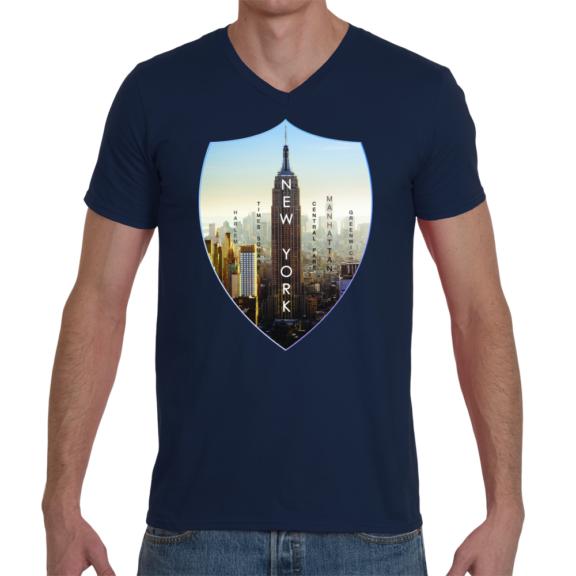 New York Empire Men V-Neck T-Shirt